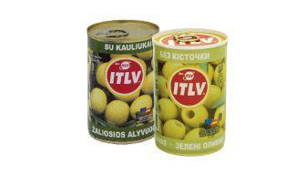Оливки зелені з кісточкою, без кісточки ІТЛВ 314 г