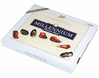 Конфеты шоколадные с ореховым пралине Истории океана Millennium, 170г