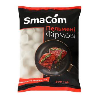 """Пельмені """"Фірмові"""" зі свининою та яловичиною SmaCom 800 г"""