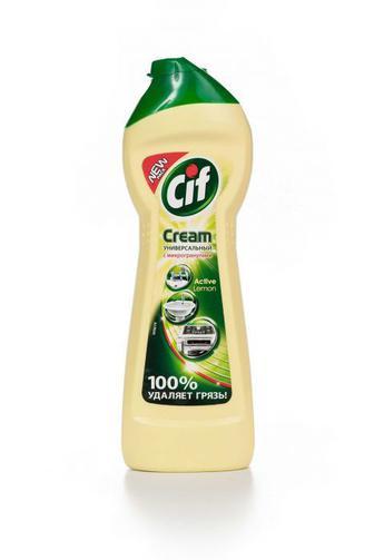 Средство для чистки Cif крем Актив Лимон, 250мл