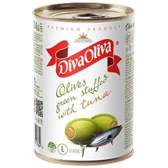 Оливки Diva Oliva зелені з тунцом 300г