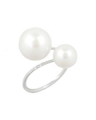 Скидка 30% ▷ Кольцо с бриллиантом и жемчугом