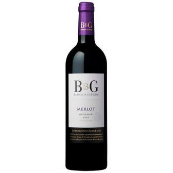 Вино B&G Merlot червоне сухе 0.75л
