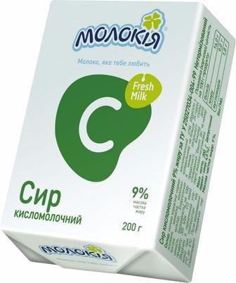 Сир кисломолочний 9% Молокія 200г