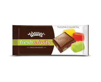 Шоколад молочний Wawel Fresh & Fruity зі шматочками желе, 100 г