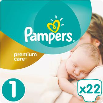 Подгузники PAMPERS Premium Care р1 2-5 кг 22 шт