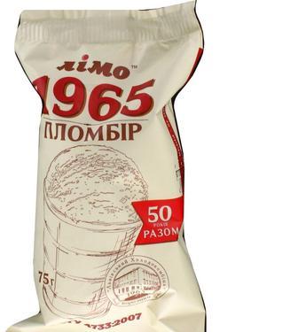 Морозиво Пломбір 1965 ваф. ст.75г, Лімо
