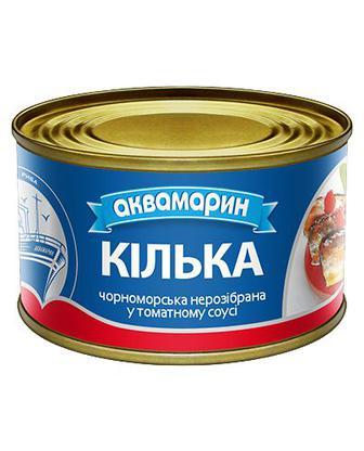 Кiлька у томатному соусі Аквамарин 230 г