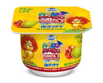 Йогурт «Локо Моко» яблуко та груша, 1,5% жиру, 115г