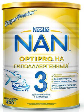 Смесь молочная Nestle NAN 3 Гипоаллергенный (с 12 месяцев) 400 г