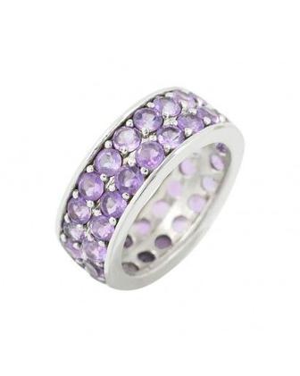 Кольцо с аметистом серебро