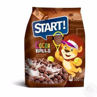 Сніданок сухий Веселий Роджер, Кільця-кульки, Кульки з какао Старт 500г