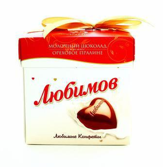 Цукерки Любимов молочний шоколад 208г