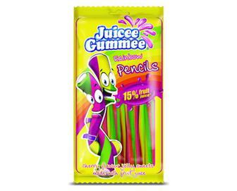 Цукерки жувальні Juicee Gummee «Олівці веселка» 85г