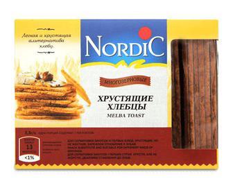 Хлібці Nordic багатозернові, 100г