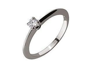Золотое кольцо с бриллиантом Артикул 01-17387183