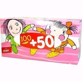 Хустинки Happy універсальні, двошарові, Bella 150 шт
