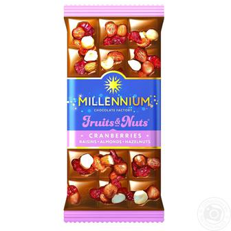Шоколад Millennium Fruits & Nuts 140г