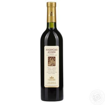 Вино біле сухе Ркацителі або червоне напівсолодке «Алазанська долина Вардіані 0.75л
