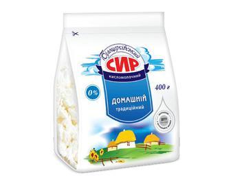 Сир кисломолочний «Білоцерківський» домашній традиційний, 0% жиру, 400г
