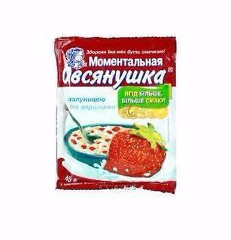 Каша Вівсянушка з малиною/полуницею/чорницею Овсянушка 40г