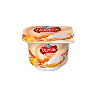 Йогурт Дольче Персик-Маракуя двошаровий 3,2% 115г