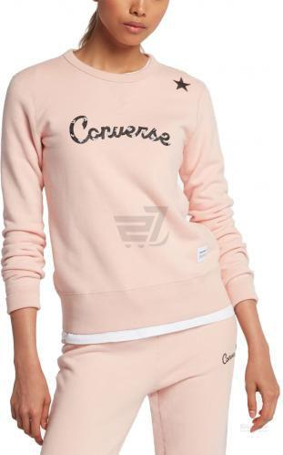 Кофта Converse Essentials Leopard Star р. L рожевий 10005617-691