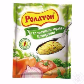 ПРИПРАВА Куряча, 12 овочів та трав, Грибна, 80 г РОЛЛТОН