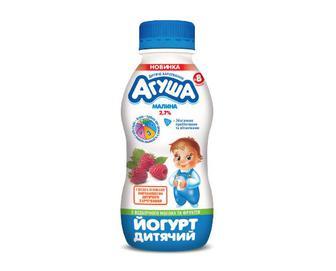 Йогурт дитячий «Агуша» 2,7% жиру малина, 200 г