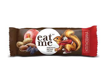 Батончик EatMe родзинки-яблуко-горіхи, 30г