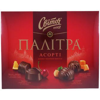 Конфеты Свиточ Палитра Ассорти в молочном шоколаде 200 г