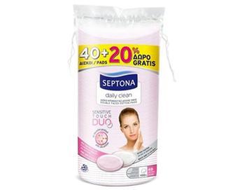 Диски ватні Septona з протеїнами шовку овальні + 20 шт. безкоштовно, 60шт./уп