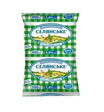 Молоко Селянське 1,5% Люстдорф 900г