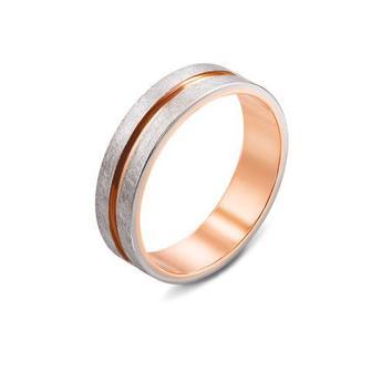 Обручальное кольцо с алмазной гранью. Артикул 10160