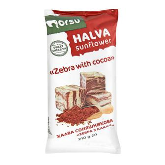 Халва Norsu подсолнечная Зебра с какао 70г