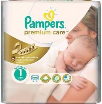 итячі підгузники Pampers Premium Care 88 шт, 80 шт, 60 шт, 52 шт, 44 шт