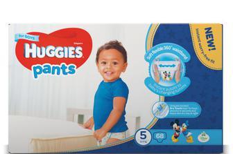 Підгузки-трусики Huggies для хлопчиків 5 (12–17 кг) 68 шт.