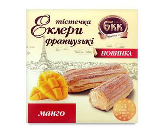 Тістечка БКК «Еклери французькі» манго, 165г