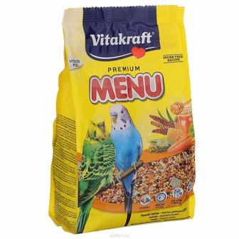 Корм для хвилястих папуг Menu Vitakraft 500 г
