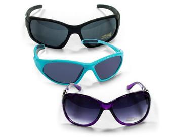 Очки солнцезащитные женские/мужские/детские, шт.