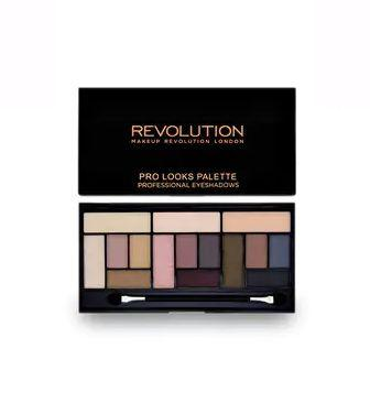 Палетка з 15 тіней для 3 образів Makeup Revolution Pro Looks