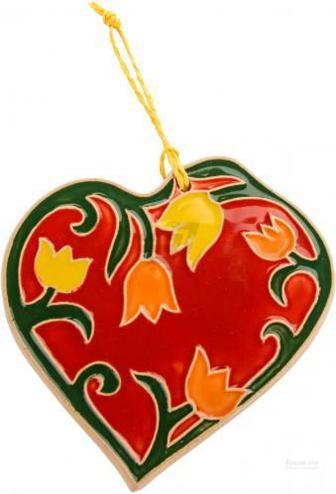 Фігурка Серце весняне з квітами 11х12 см Sweet Ukraine