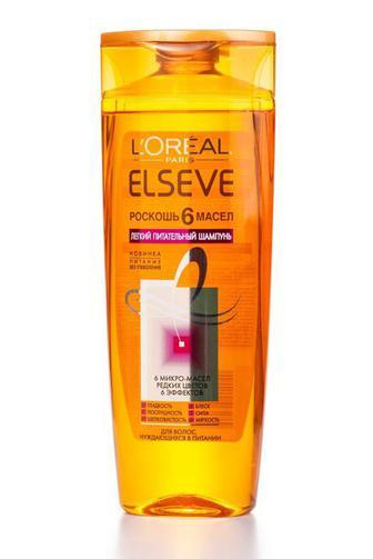 Шампунь ELSEVE HAIRCARE для всех типов волос Роскошь 6 Масел 400мл