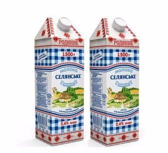 Молоко Роденне 2,6% Селянське 1,5л