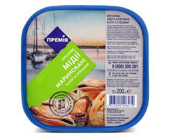 Мідії «Премія»® мариновані в олії зі спеціями, 200г