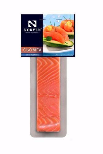Сьомга Norven філе шматок слабосолена 180г