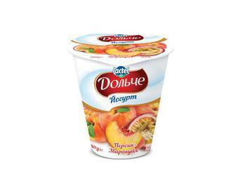 Йогурт Дольче, 3,2% жиру, персик-маракуя, 280 г