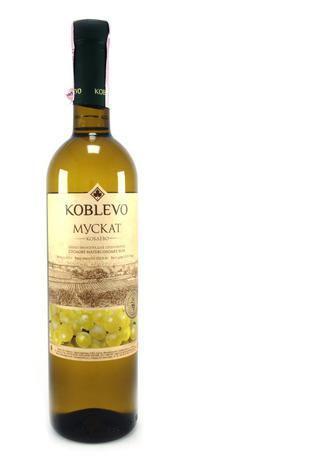 Вино Коблево Мускат біле напiвсолодке, 0,75 л