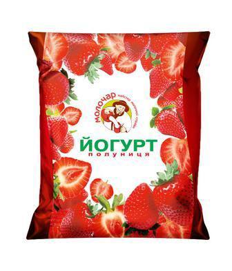 Йогурт Молочар Полуниця питьевой 1% 400г