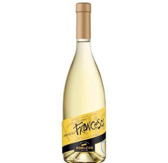 Вино Сомелье Франческа полусладкое белое, Koblevo 0,7 л.